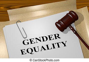 genre, concept, égalité