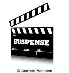 genre., zawieszenie, film, klepać, kino
