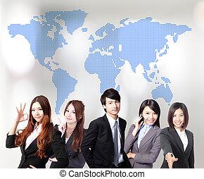 gens, affaires asiatiques, équipe