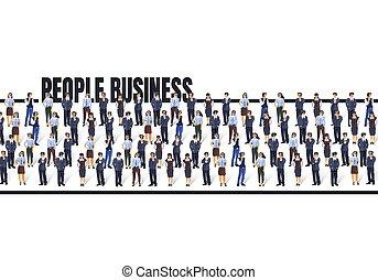 gens., affaires gens, concept, obtenir, groupe