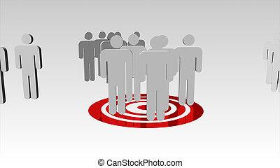 gens, animation, business, fonctionnement, 3d