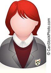 gens, -, avatar, étudiant, icônes