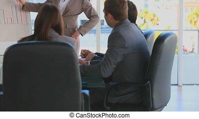 gens, avoir, réunion, business