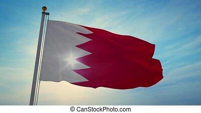 gens, bahrain, signe, ou, bahraini, 4k, drapeau, -,...