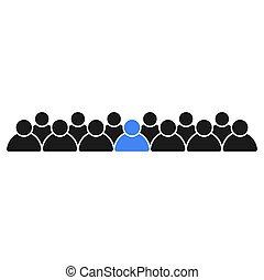 gens bureau, icônes, team., éditorial, personnel