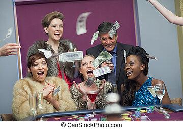 gens, casino, argent, lancement
