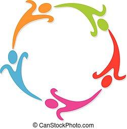 gens, collaboration, business, icône