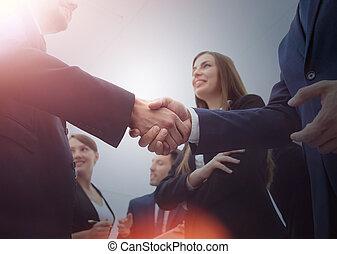gens, conce, business, handshake.