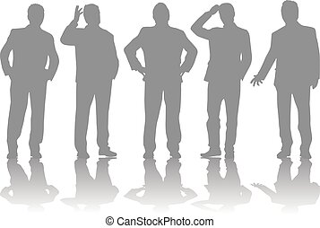 gens., conceptual., silhouettes, business