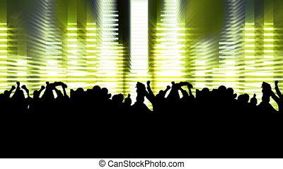 gens, concert, danse