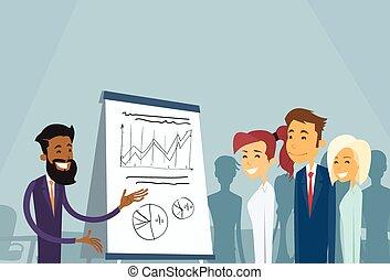 gens, conférence, séminaire commercial, réunion, formation