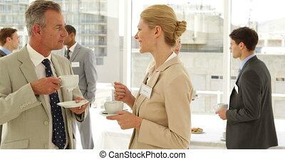 gens, conferenmce, business, bavarder