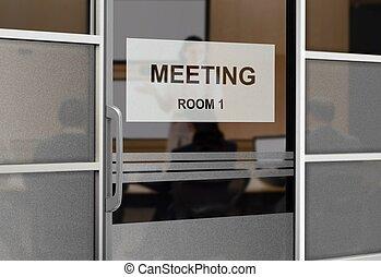 gens dans, salle réunion
