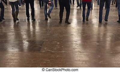 gens, danse, cow-boy, danse ligne, à, musique pays