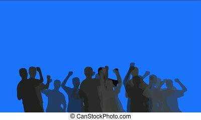 gens, danse, foule, applaudissement