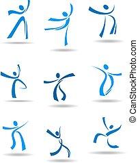gens, danse, icônes