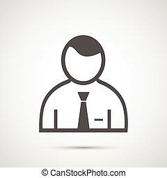 gens, design., homme, icône