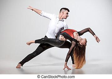 gens, deux, danse