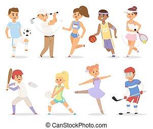 gens., divers, sports