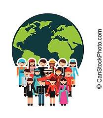 gens, diversité, conception