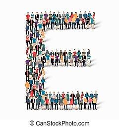 gens, e, vecteur, lettre, groupe, forme
