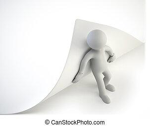gens,  -, essayer, virage, petit,  page,  3D
