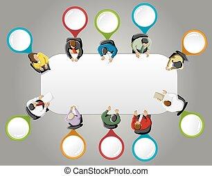 gens, fonctionnement, business, groupe