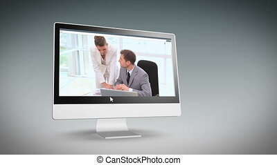 gens, fonctionnement, business, t, vidéos
