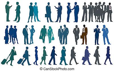 gens fonctionnement, ensemble, business, divers