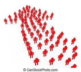 gens fonctionnement, moyens, ensemble, synergie, direction, autorité