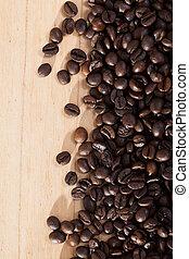 gens, fond, naturel, café, non, haricots, bois, sombre
