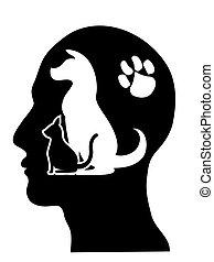 gens, fond, soucier, animaux familiers