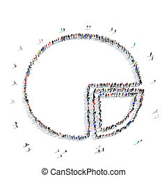 gens, forme, graphique circulaire
