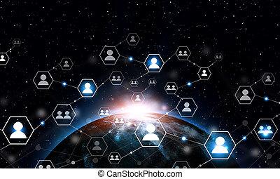 gens, global, gestion réseau