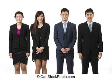 gens., groupe, affaires asiatiques