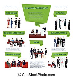gens, groupe, business, infographics