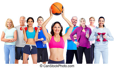 gens., groupe, fitness