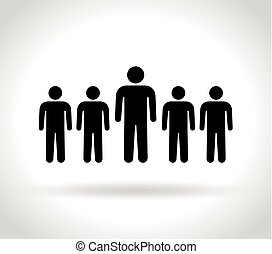 gens, icône, blanc, fond