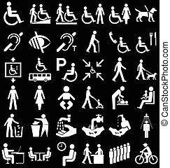 gens, incapacité, graphiques