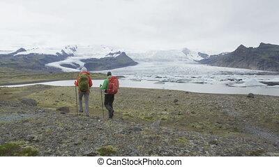 gens, islande, aventure, voyage, randonnée