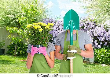 gens., jardinage