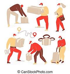 gens livraison, illustration