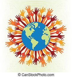 gens, mondiale, design.