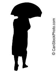 gens, parapluies, une