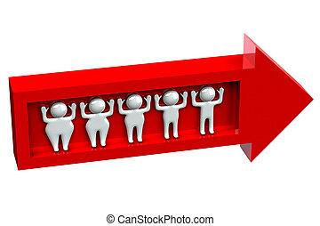 gens, perte, poids, mince, graisse