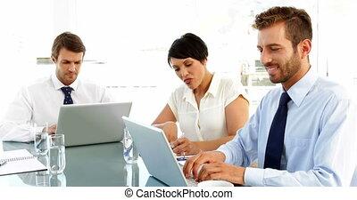gens, portables, leur, business, fonctionnement