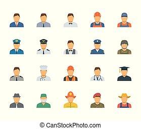 gens, professions, et, métiers, icône, ensemble, dans, plat, conception, #1