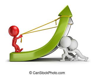 gens, profit, -, collaboration, petit, 3d