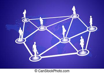 gens, réseau, social
