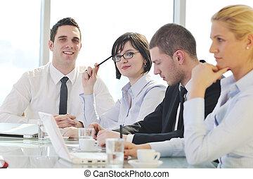 gens, réunion, business